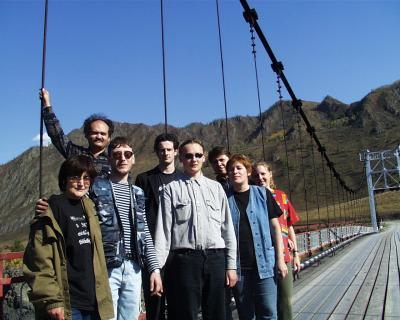 xTech team near Katun river (Altay Mountains)
